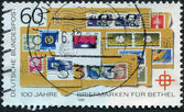 Postage stamp printed in Germany dedicated to the 100th anniversary of the postage stamp for Bethel — Stock Photo