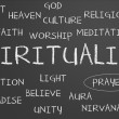Stock Photo: Spirituality word cloud