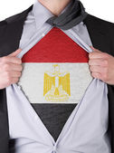 Business man with Saudi Egyptian flag t-shirt — Stock Photo