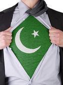 Business man with Pakistan flag t-shirt — Stock Photo