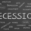 Stockfoto: Recession word cloud