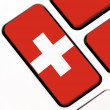 Stock Photo: Keyboard keys with Swiss flag