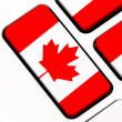 Keyboard keys with the Canadian flag — Stock Photo