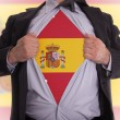 Stock Photo: Business mwith Spanish flag t-shirt