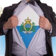 Stock Photo: Business mwith SMarino flag t-shirt