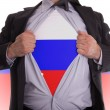 Stock Photo: Business mwith Russiflag t-shirt