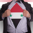 Stock Photo: Business mwith Syriflag t-shirt