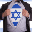 Stock Photo: Business mwith Israeli flag t-shirt
