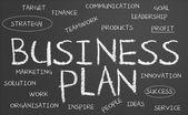 Pizarra de plan de negocios — Foto de Stock