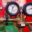 Two Gas Pressure Gauge - 图库照片