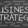 Business strategy chalkboard — Stock Photo #23790391