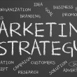Marketing strategy word cloud — Stock fotografie