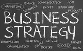 Business strategy chalkboard — Stock Photo
