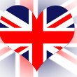 Royalty-Free Stock Photo: English Flag heart