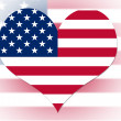 Stock Photo: USflag heart