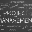Project management word cloud — Stock Photo