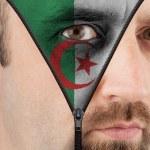 Постер, плакат: Unzipping face to flag of Algeria