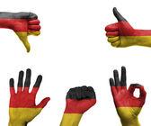 Strony z banderą niemiec — Zdjęcie stockowe