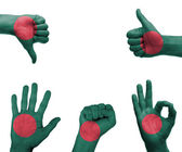Hand set with the flag of Bangladesh — 图库照片