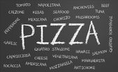 Pizza word cloud — Stock Photo