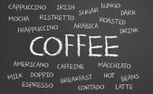 Coffee word cloud — Stock Photo