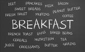 Breakfast word cloud — Stockfoto