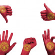 Постер, плакат: Hand set with the flag of kyrgyzstan