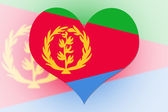 Eritrea Flag heart — Stock Photo