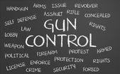 Gun Control word cloud — Stock Photo