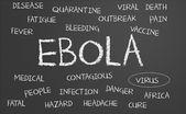 Ebola word cloud — Stock Photo