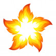 Fire flower — Stock Vector