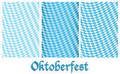 Set of Oktoberfest design background — Stock Vector