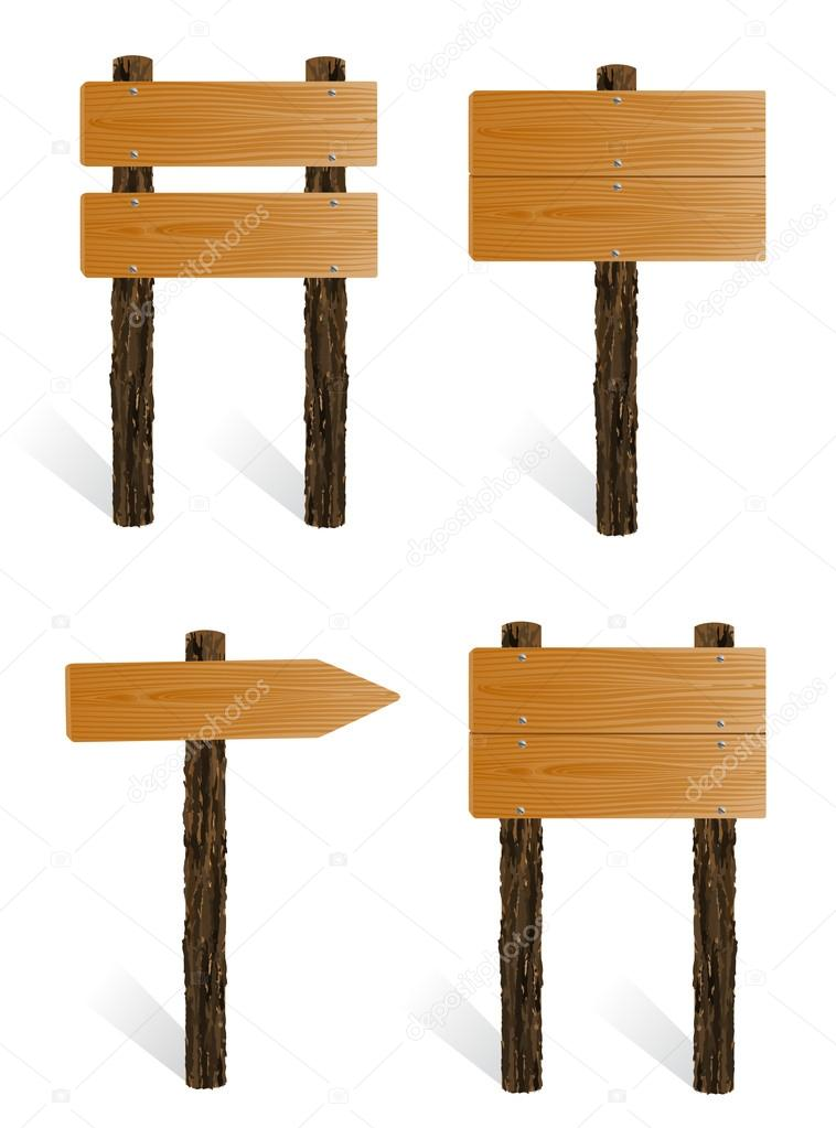 Blank Wooden Sign Board Set of Blank Wooden Sign