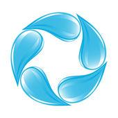 清澈的水水滴图标 — 图库矢量图片