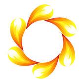 Fire flower — Stock Vector