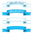 Oktoberfest banners in bavarian colors — Stock Vector