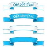 Oktoberfest banners in bavarian colors — Stock Vector