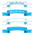 Stock Vector: Oktoberfest banners in bavaricolors