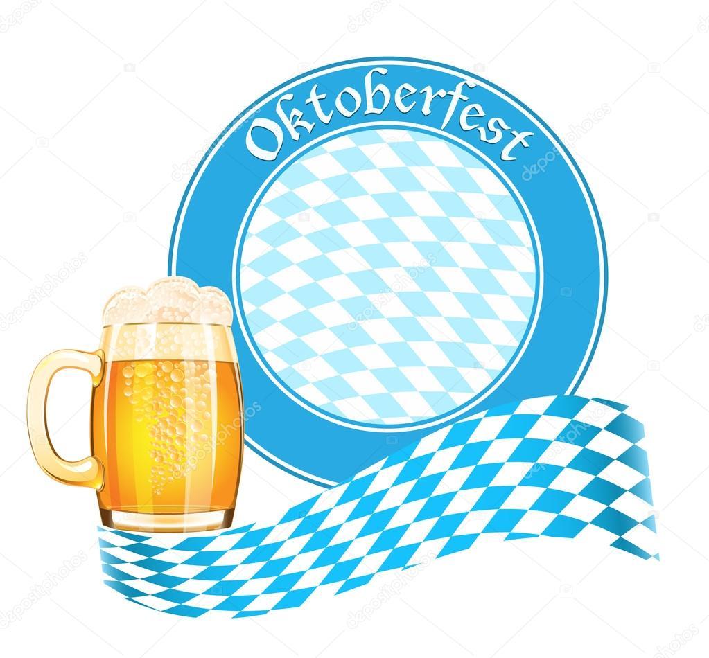 Oktoberfest banner with beer mug — Stock Vector © tatus ...