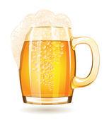 Caneca de cerveja, isolada em um fundo branco — Vetorial Stock