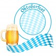 Stock Vector: Oktoberfest banner with beer mug