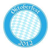 Oktoberfest round banner — Stockvektor