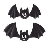 Two cartoon style bats — Stock Vector