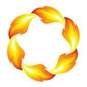 Fire flower, sun — Stock Vector