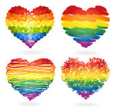 Set of rainbow hearts — Stock Vector