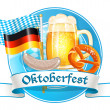 Oktoberfest celebration card — Stock Vector