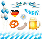 Set of Oktoberfest design elements — Stock Vector