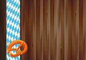 октоберфест празднование дизайн с старый текстуру дерева — Cтоковый вектор