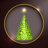Confetti Christmas tree — Stock Vector