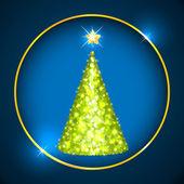 árbol de navidad de confeti — Vector de stock